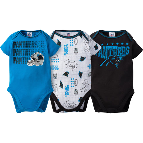 Panthers Baby 3 Pack Short Sleeve Onesies