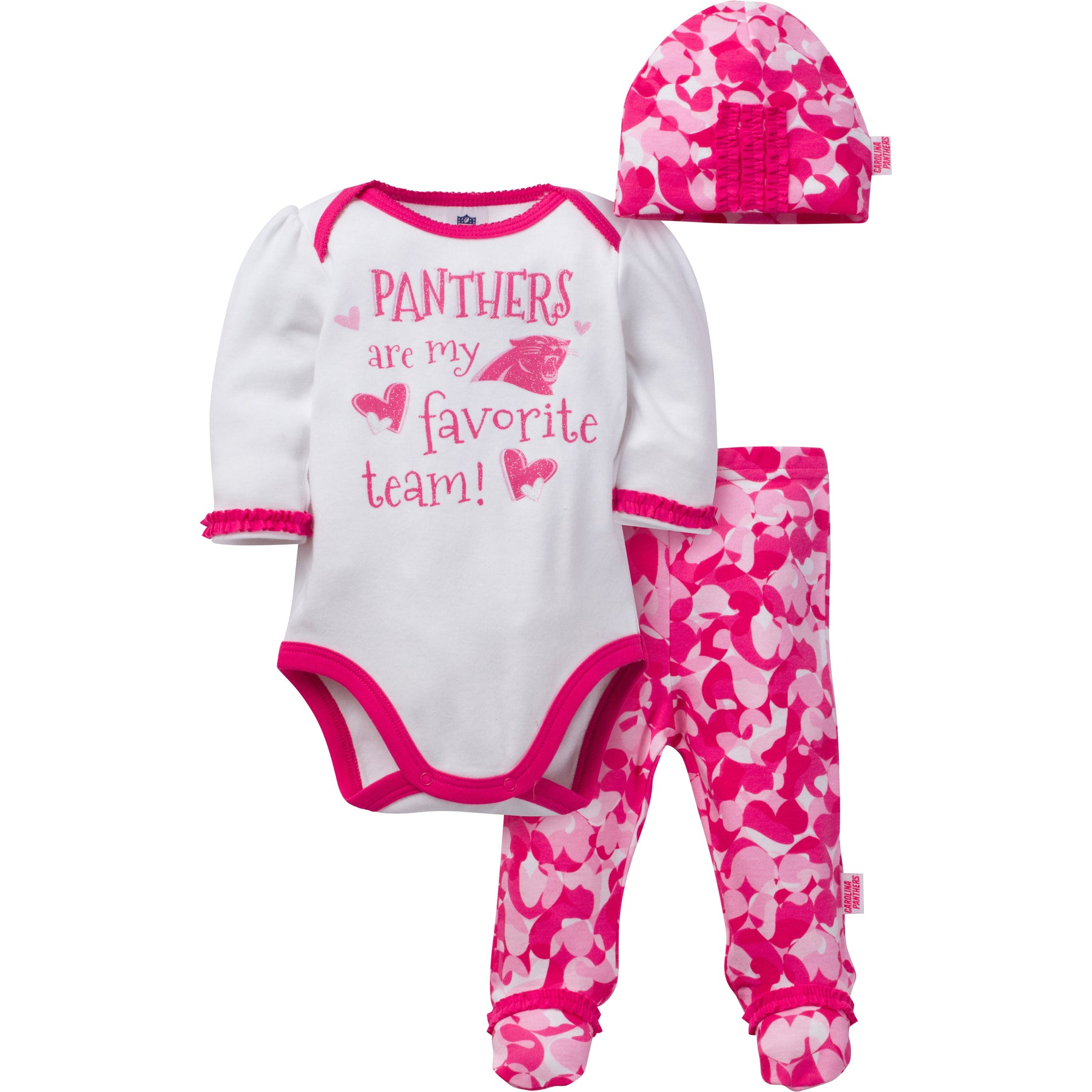 Panthers Baby Girl 3 Piece Outfit – babyfans ffe858c1f