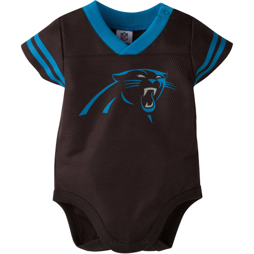 Baby Panthers Football Jersey Onesie