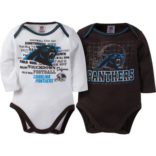 Panthers Infant Long Sleeve Logo Onesies-2 Pack