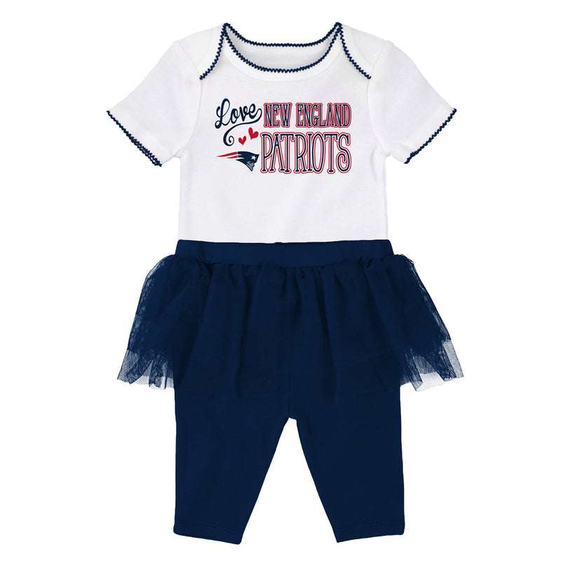 Patriots Baby Girl Creeper and Tutu Leggings