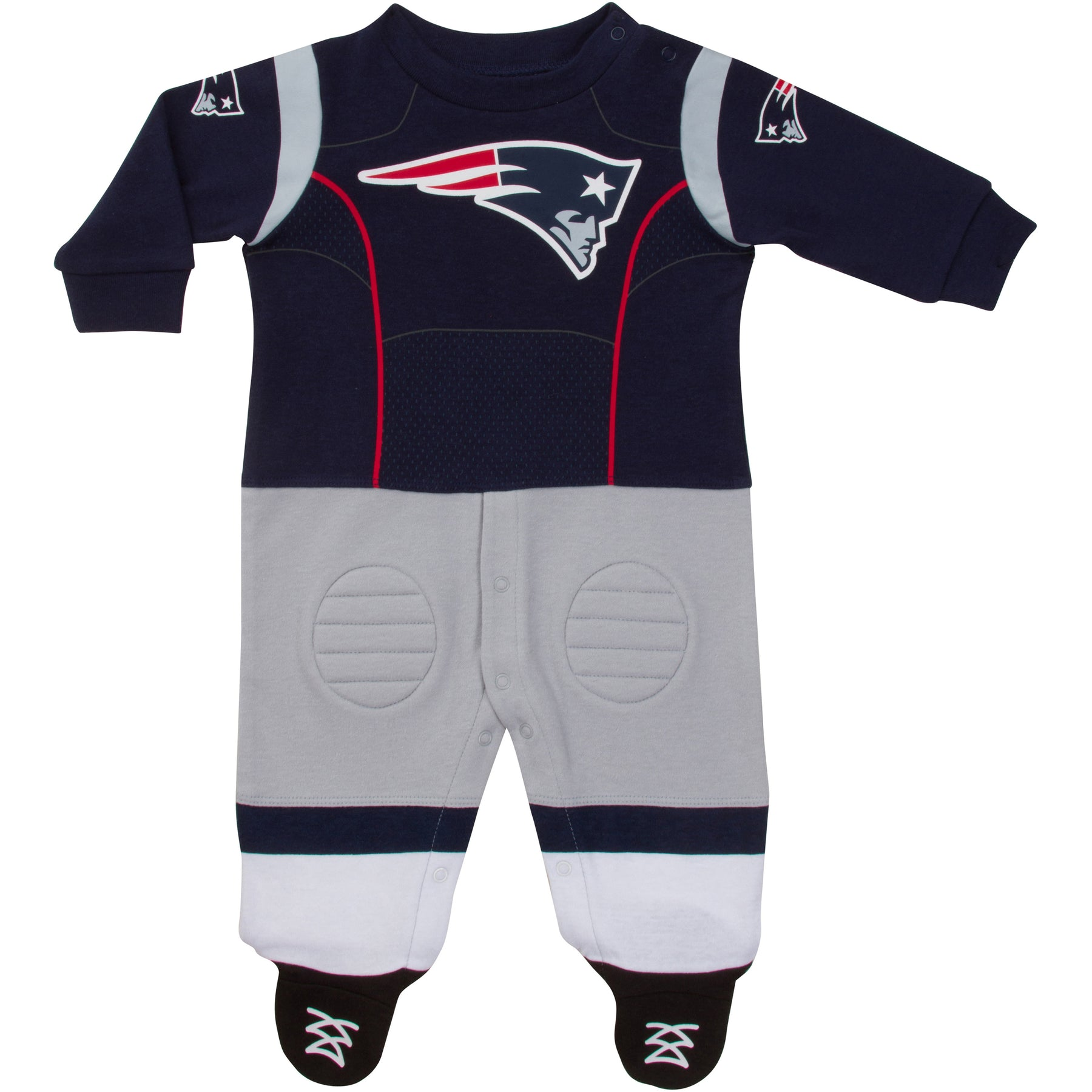 buy popular 30704 fe05c New England Patriots Baby Footysuit