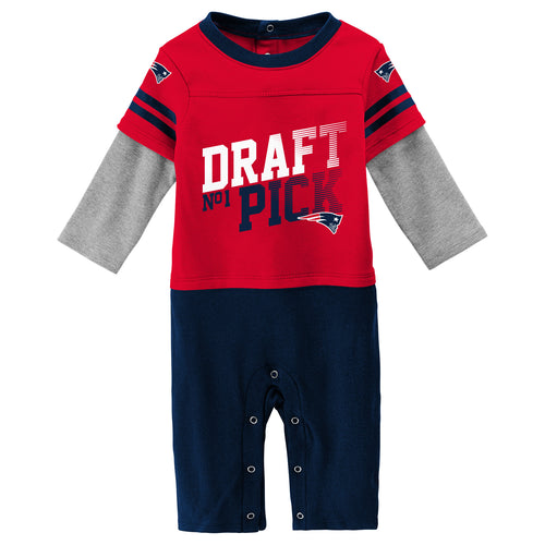 9987210f4ec Baby Patriots Long Sleeve Onesie Two Pack. $19.95. Patriots Boy Long Sleeve  Coverall