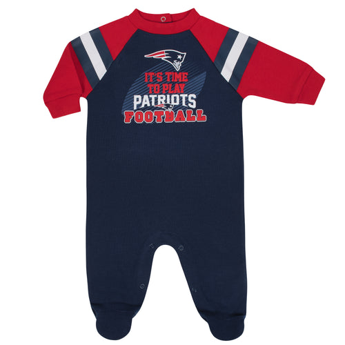 Patriots Baby Football Sleep N Play