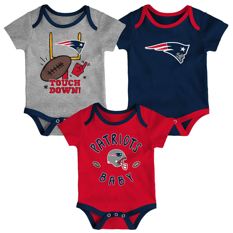 Patriots Baby 3 Piece Bodysuit Set