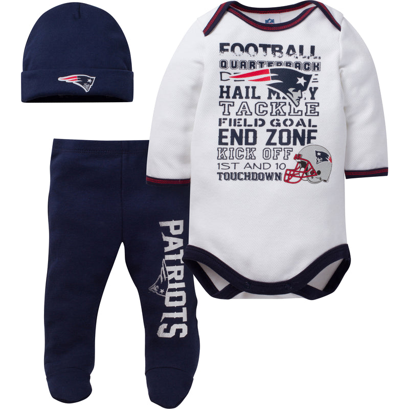 Patriots Baby 3 Piece Outfit