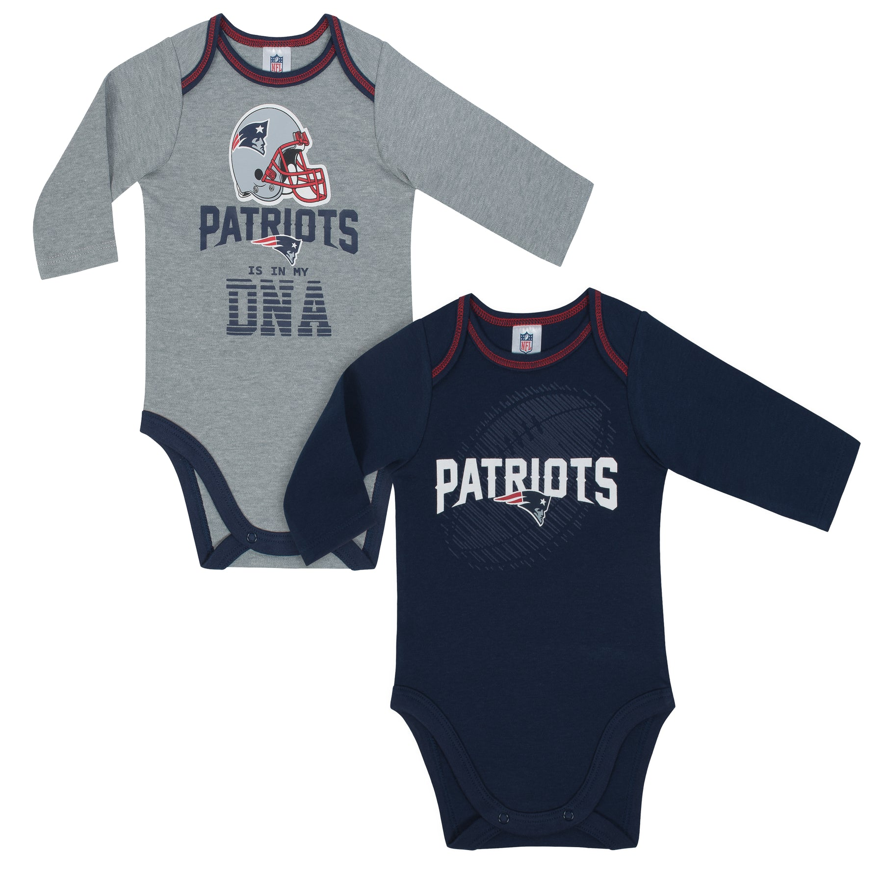 fff645fc7c6 Patriots Is In My DNA 2 Pack Long Sleeved Onesies – babyfans