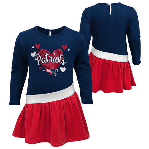 Patriots Girls Heart Jersey Dress