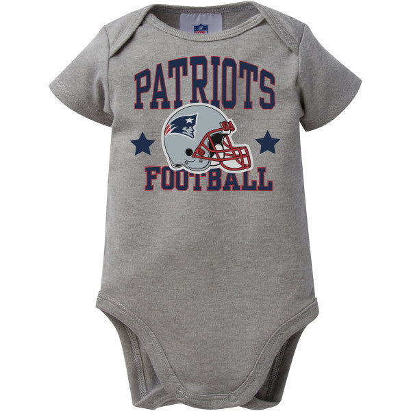 Patriots Baby Heather Gray Team Bodysuit