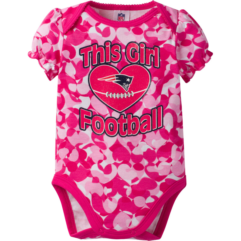 Patriots Infant Girl Camo Bodysuit