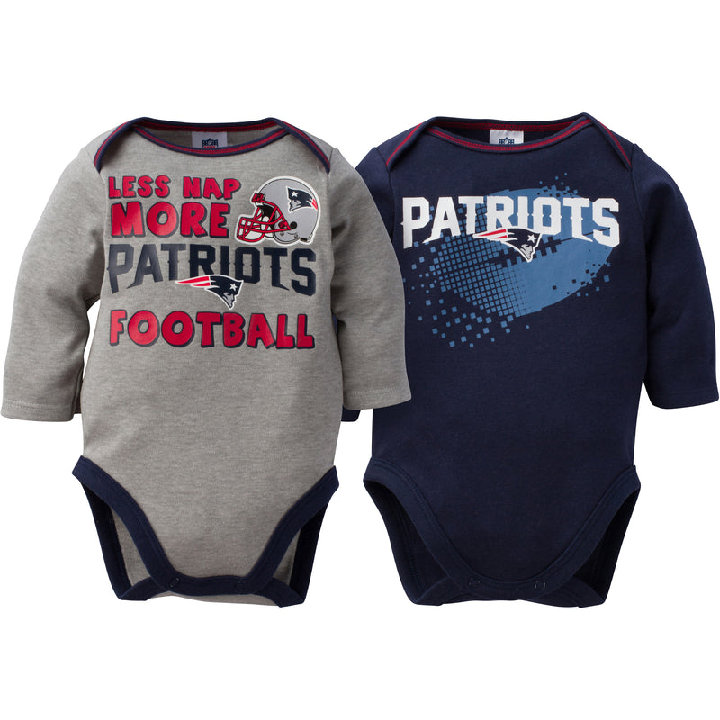 Baby Patriots Fan Long Sleeve Onesie 2 Pack