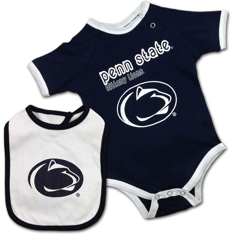 Penn State Nittany Lions Baby Body Suit and Bib
