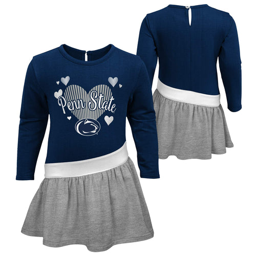 Penn State Girls Heart Jersey Dress