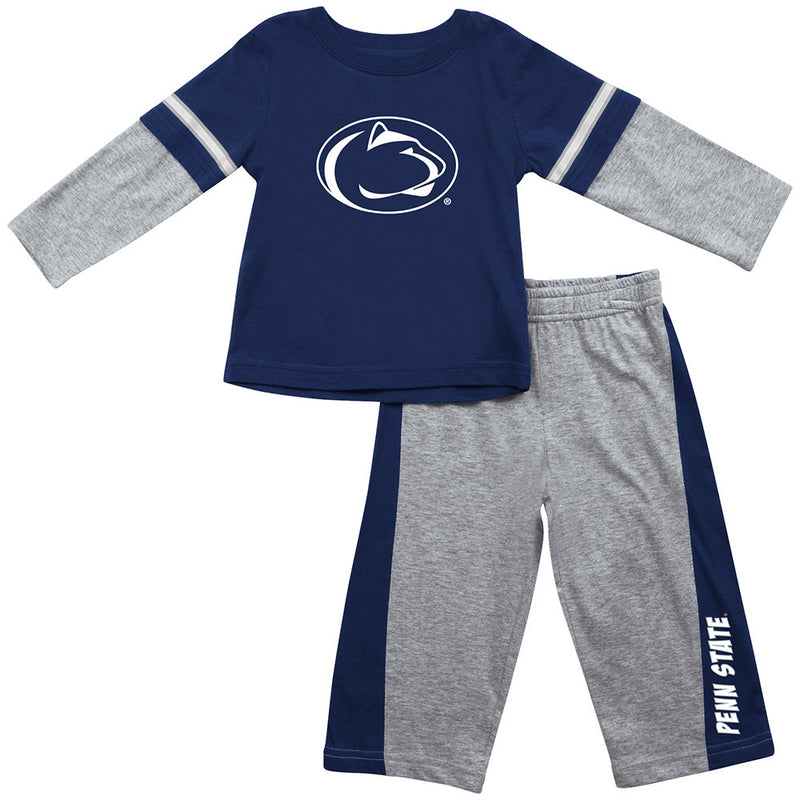 Penn State Infant Long Sleeve Tee and Pants