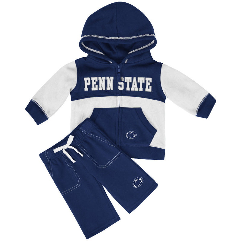Nittany Lions Baby Color Block Fleece Set