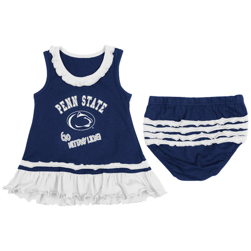 Nittany Lions Baby Ruffled Tank Dress