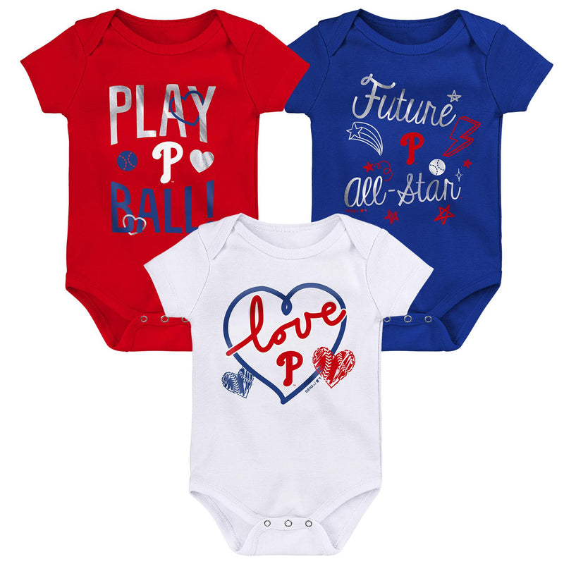 Phillies Girl 3 Piece Bodysuit Set
