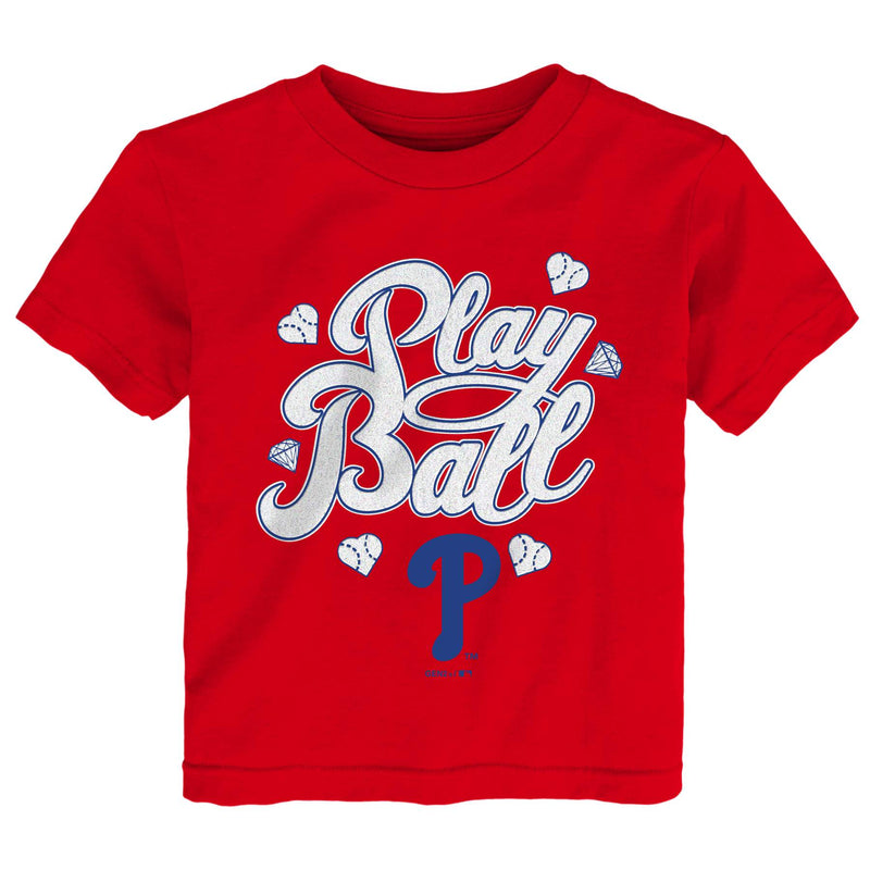 Phillies Girl Play Ball Tee