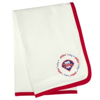 Philadelphia Phillies Embroidered Receiving Blanket