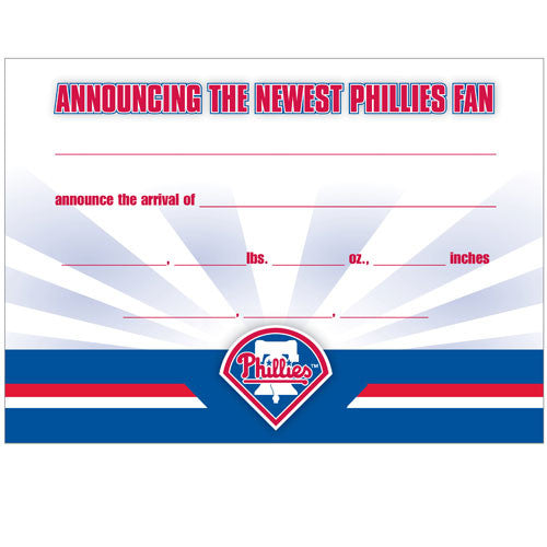 Official Phillies Birth Announcement