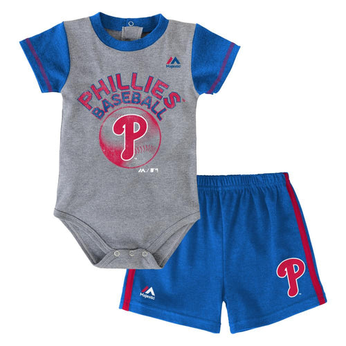 Phillies Baby Jersey Bodysuit with Shorts