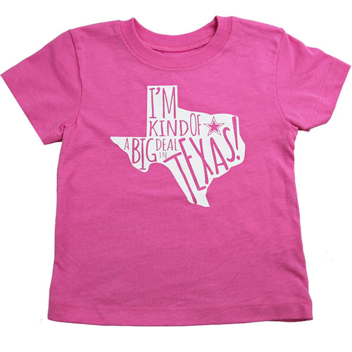 """I'm Kind of a Big Deal"" Cowboys Baby/Toddler Girl Tee Shirt"