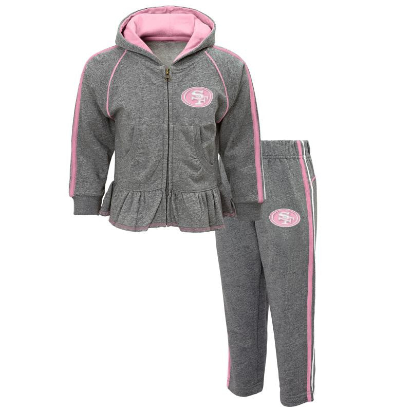 49ers Girl Pink & Gray Fleece Set