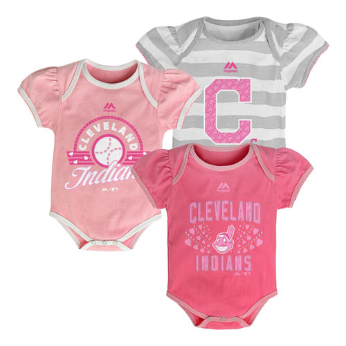 It's a Triple! Indians Girl Onesies
