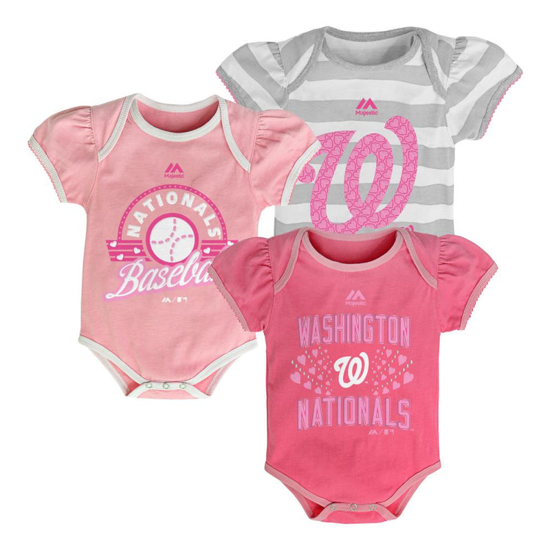 It's a Triple! Nationals Girl Onesies