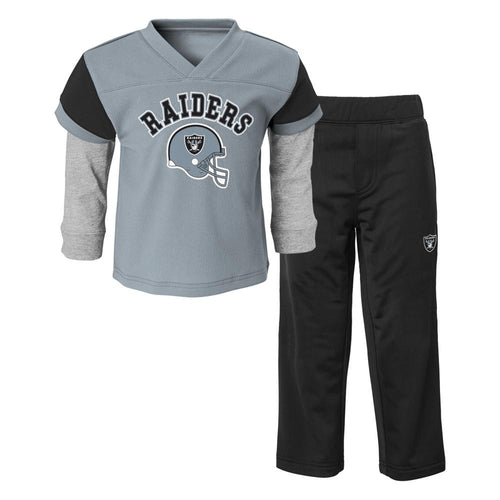 4dc238160c5 Raiders Infant Toddler Jersey Style Pant Set