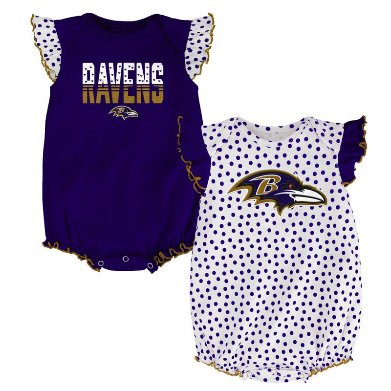 Ravens Baby Girl Dotty Duo