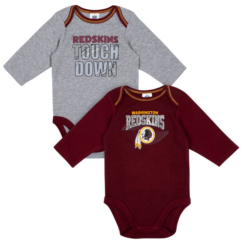 Washington Redskins Baby Boy Long Sleeve Bodysuits