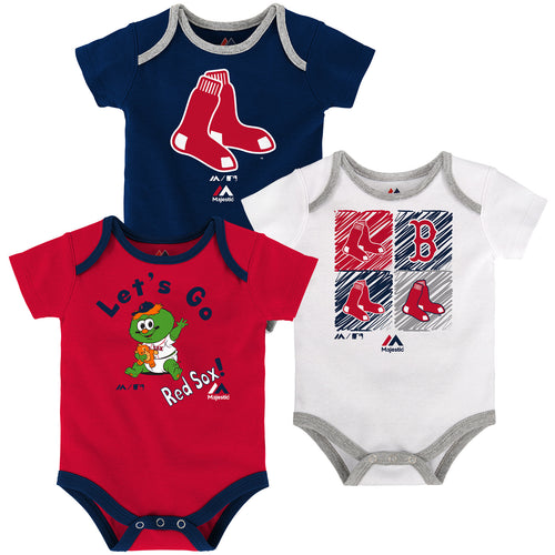 Let s Go Red Sox Creeper 3-Pack 5ff1262f667