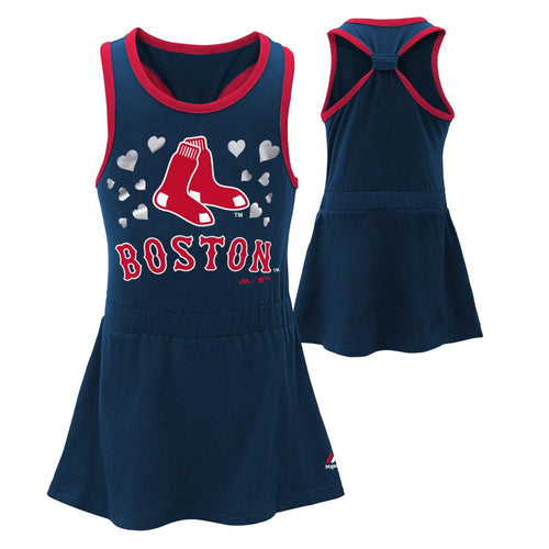 Red Sox Girl Criss Cross Tank Dress