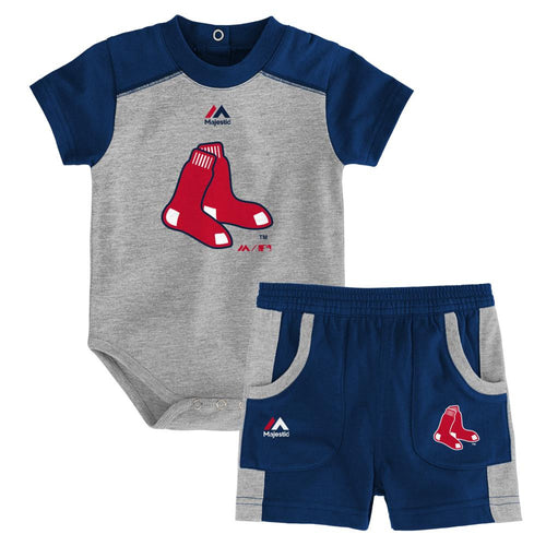 Red Sox Fan Onesie and Short Set