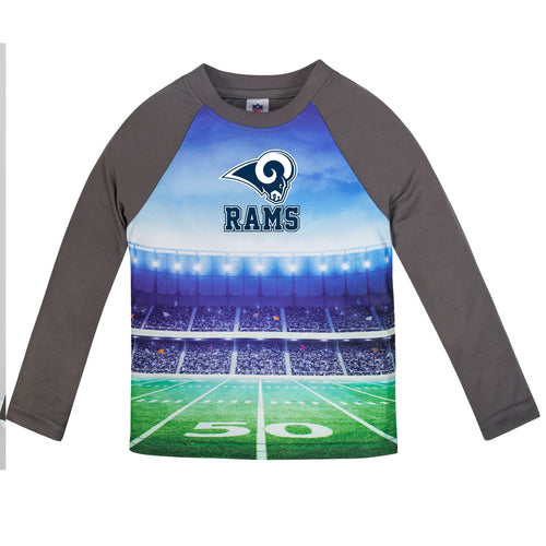 Rams Long Sleeve Football Performance Tee