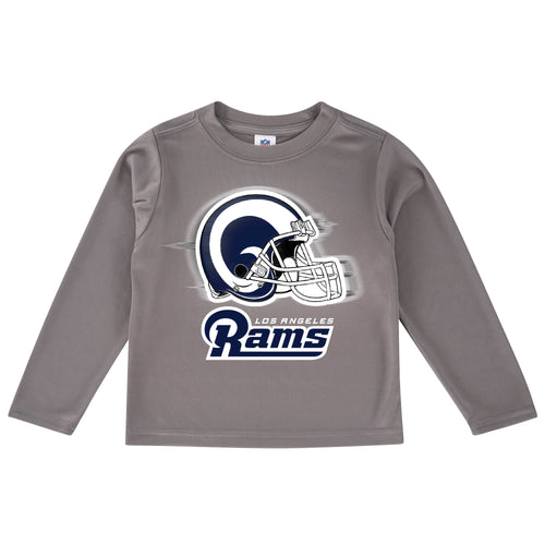 Rams Cool Grey Toddler Long Sleeve Logo Tee