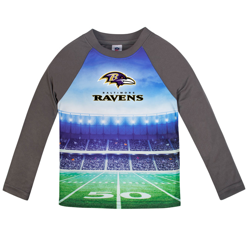 Ravens Long Sleeve Football Performance Tee