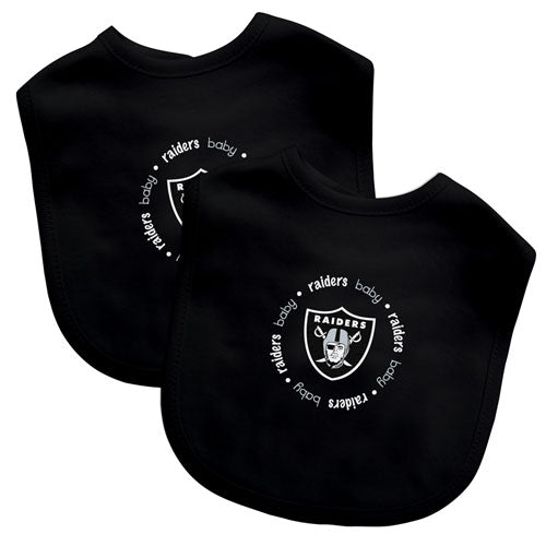 Embroidered Raiders Baby Bibs (2-Pack)