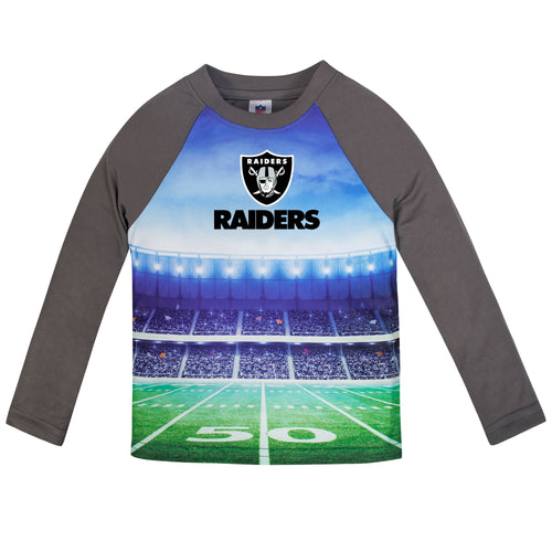 Raiders Long Sleeve Football Performance Tee