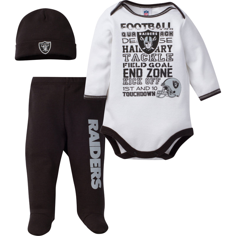 Raiders Baby 3 Piece Outfit