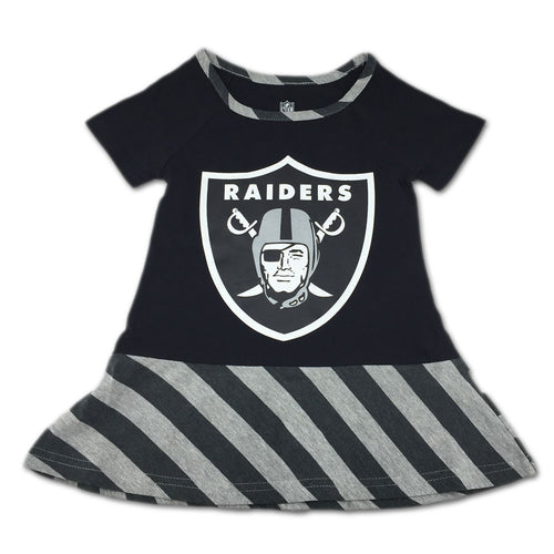 Raiders Dress with Stripes