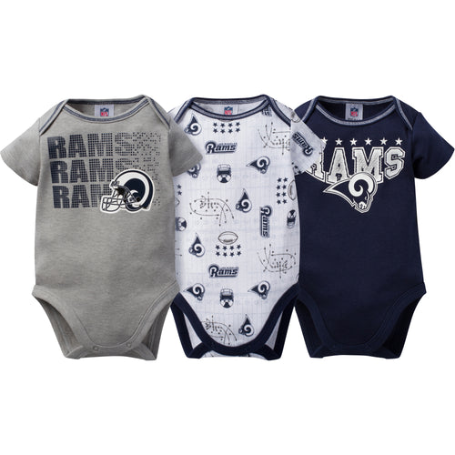 Rams Baby 3 Pack Short Sleeve Onesies