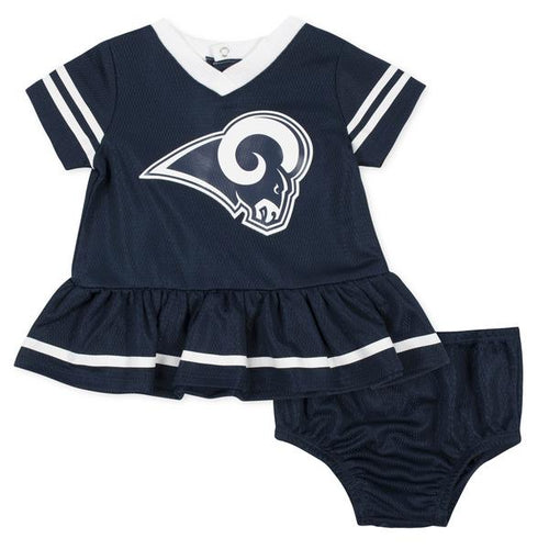 Rams Baby Girl Dazzle Dress and Diaper Cover