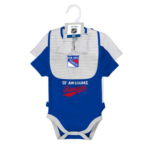 Rangers 2 Pack Bodysuits, Bib and Booties