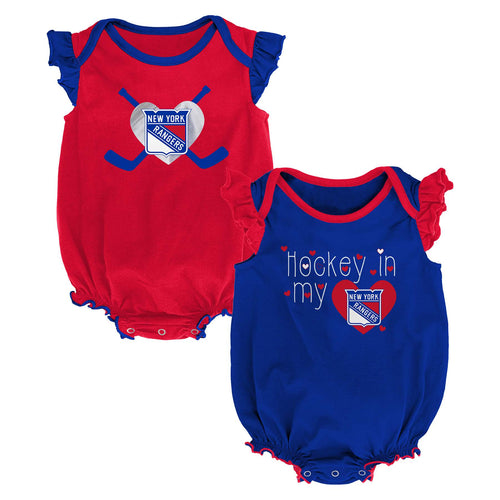 Rangers Hockey Girl Bodysuit Set