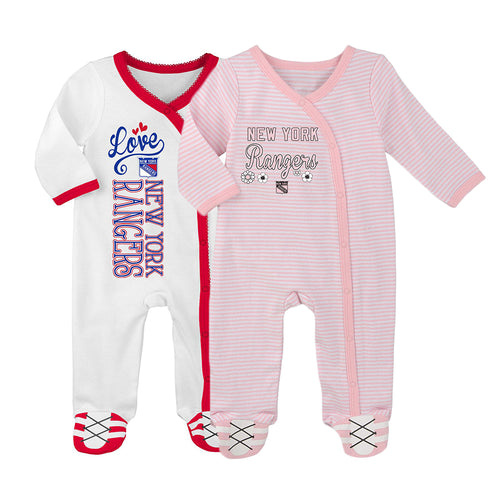 Rangers Girl Pink Infant Gameday Coveralls