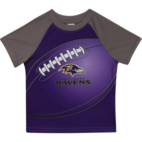 Ravens Short Sleeve Football Tee (12M-4T)