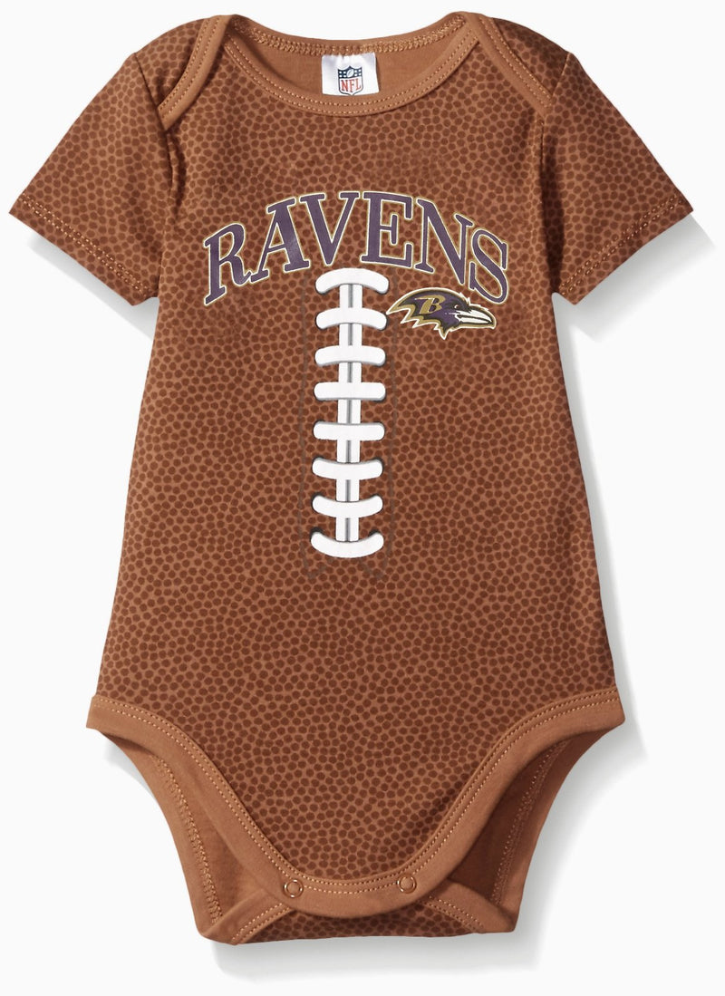 Ravens Baby Fan Football Bodysuit