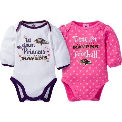 Ravens Baby Princess Bodysuit Set